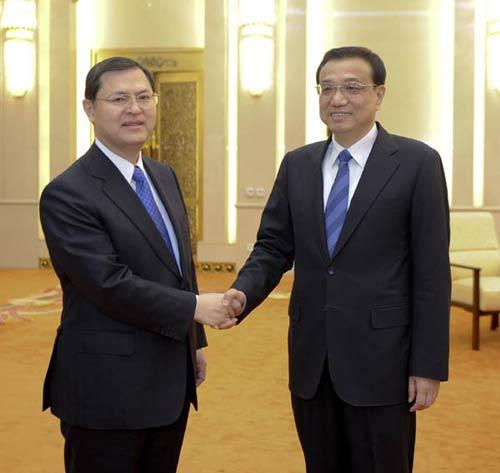 Hiromasa Ikeda e il vice primo ministro cinese Li Kequiang