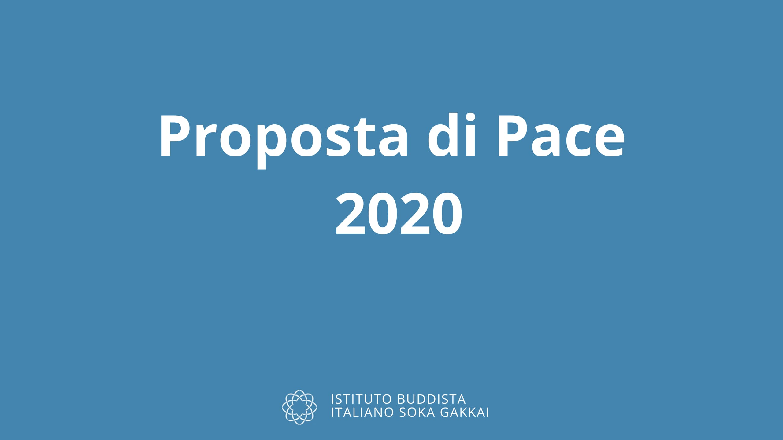 Proposta di Pace 2020