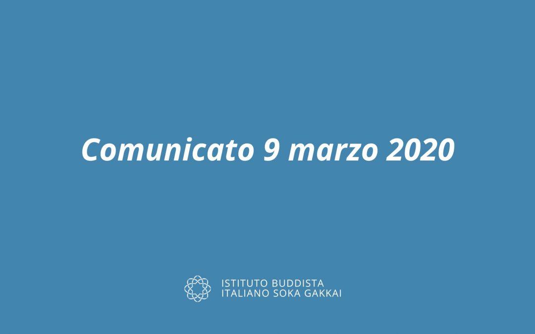 Comunicato del 9 marzo 2020 inerente la sospensione temporanea delle attività religiose