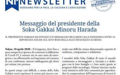 Messaggio del presidente della Soka Gakkai Minoru Harada, 10 aprile 2020