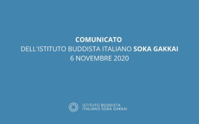 Comunicato del 6 novembre 2020