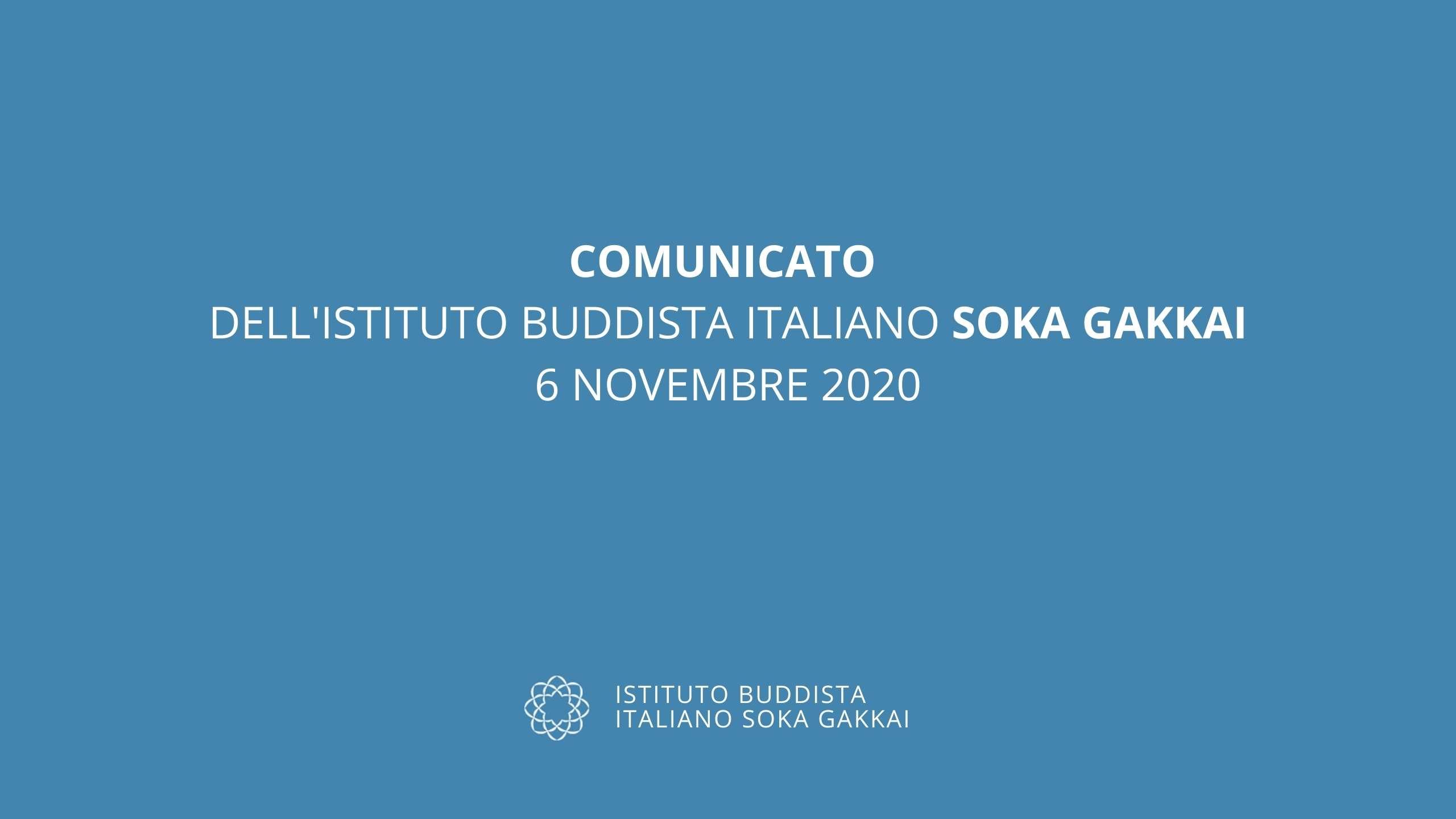 Comunicato 6 novembre 2020