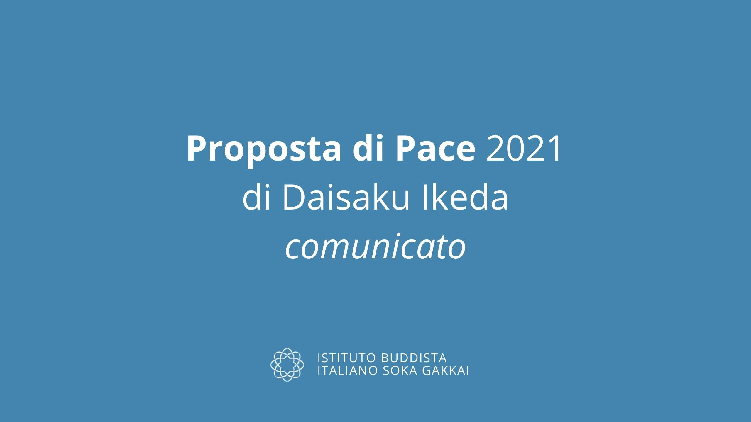 Proposta di Pace Ikeda