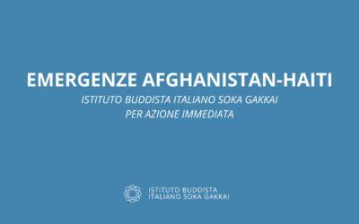 Emergenze in Afghanistan e ad Haiti